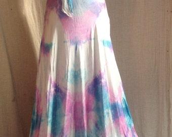 Vneck wedding dress  boho bridal island wedding dress tie dye maxi dress hippie bridesmaids fairy dresses