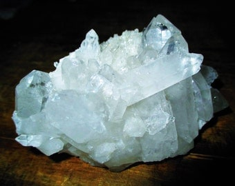 Crystal of Neahtid Display Cluster Ice Quartz - Old World Magic, Protection, Akashic Records, Tranquility, Vision, Sorcery, Psychic, Joy