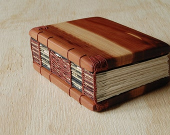 cedar mini journal - small wood book handmade - book lover gift- unique gift - miniature book stocking stuffer- ready to ship