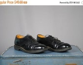 ON SALE 50% MEN'S Vintage Red Wing Black Leather Shoes. Size 12 (Euro 46)