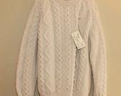 Athena Designs Handknit Fisherman's Sweater  Size  44
