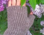 Made to order- fingerless mittens.  All natural alpaca or organic merino wool.