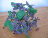 1930's Glass Seed Bead Flower Bouquet