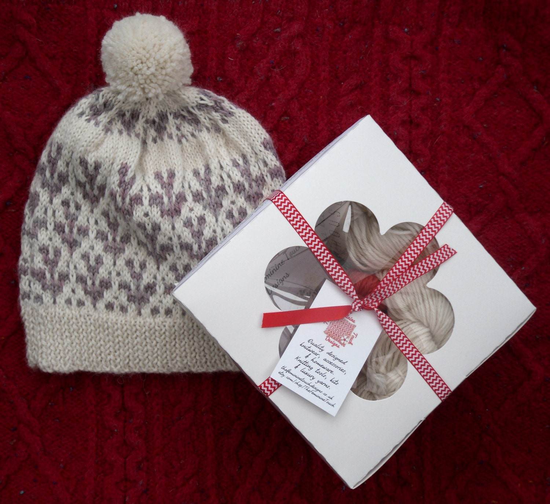 sprig beanie knitting kit luxury diy kit for her gift for knitters colourwork knit kit. Black Bedroom Furniture Sets. Home Design Ideas