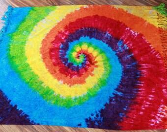Tie dye Blanket upcycled