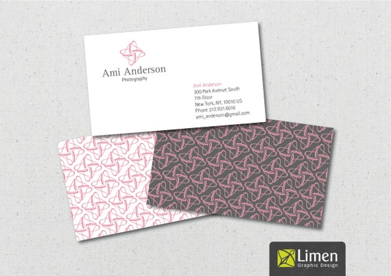 Initial Letter Business Card, Printable Business Cards, Monogram, Calling Card, Printable Cards, Graphic Design, DIY Business Cards
