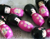 PINK Sakura chan - 1 Wooden Japanese Kokeshi doll