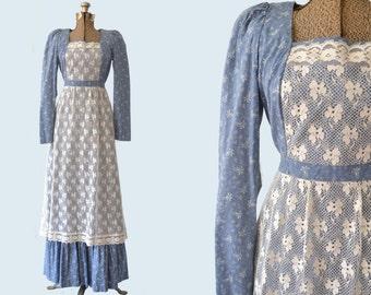1970s Lanz Original Peasant Dress size M