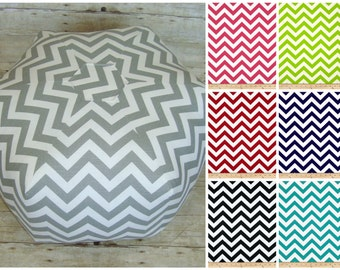 Floor pouf / floor cushion / floor pillow / color options -customize - chevron floor pouf - ottoman pillow - floor cushion - foot stool