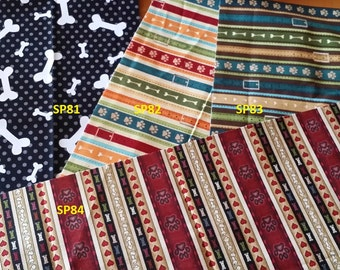 NEW FABRICS  3 Male Dog Belly Wrap  your choice for waist     Pick your fabrics