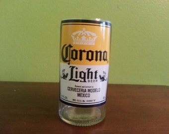 Corona Light Upcycled Beer Glasses