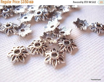 50% OFF Moving Sale - 100 Bulk Bead drop Antiqued Silver Tone 7mm S194