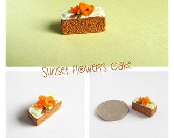 Sunset Flowers Cake