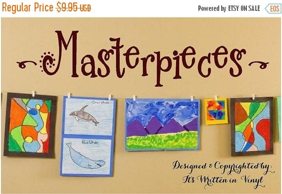 15% OFF Masterpieces-Vinyl Lettering wall words  quotes graphics Home decor itswritteninvinyl