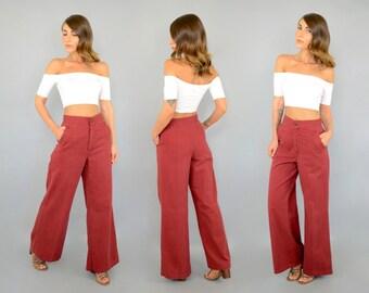 70's High Waist BELL BOTTOM Trousers