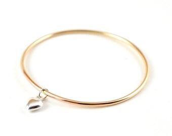 Kid bangle bracelet - little bangle - gold filled bangle - birthday gift for little girl