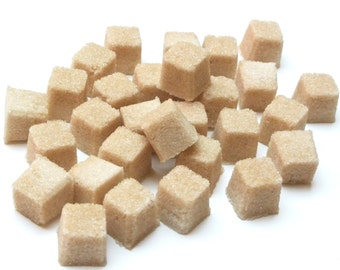 Butterscotch Sugar Cubes for High Tea Party, Wedding Champagne Toast, Mad Hatter Tea Party, Colored Sugar, Favors, Coffee, Tea