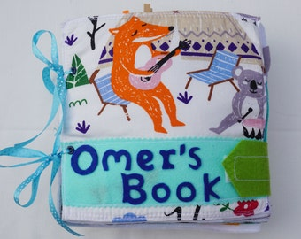 Personalized Quiet Book Cover / Felt Activity Book / Birthday Gift / Toddler Quiet Book / Sensory Toy / Fine Motor Skills / On the Go /