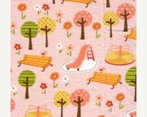 Sale - Girly Park - Pink - FLANNEL - Fat Quarter -FQ