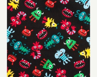 Sale - Monsters - Fat Quarter - Cotton