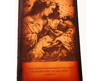 Leather Mother and Child Keepsake Journal
