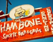 Ham Bone Neon Sign Photo - Retro Home Bar Decor - Mesa Sports Bar - Fine Art