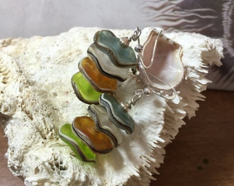 Layers of glass Earrings