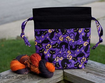 """New!  """"Spooky!"""" Drawstring Project Bag"""