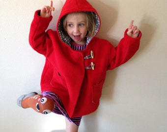 Red wool jacket 4T-5T