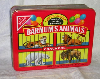 Barnum's Animal Crackers Collectible Tin 1989