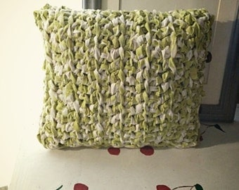 Pillow Cover Crochet Green