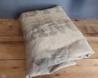 Old reclaimed very large french postal bag