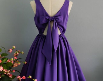 Lolita Dress Sweet Lolita Backless Dress Royal Purple Dress Royal Purple Bridesmaid Dress Purple Party Dress Summer Dress XS-Xl
