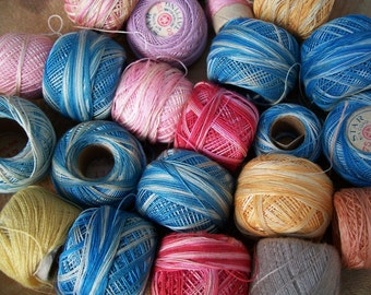 Vintage Tatting Thread, Various colors,Collection