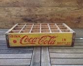 Vintage Yellow Coca Cola Crate