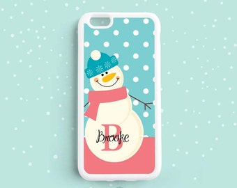 Frosty The Snowman Personalized Monogram iPhone 6/6s plus, 5s 5c 4s Case, Samsung Galaxy S5 S4 S3, Note 5 4 3 Case UL07