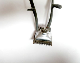 Vintage Hair Trimmer, Hair Cutting Machine, Mechanical Hair Clippers, Barbers Clippers, Hand Operated Hair Clipper