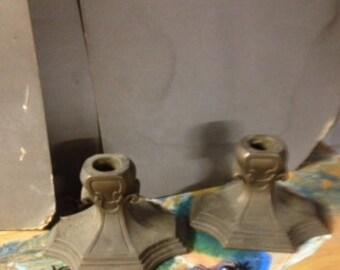 Vintage Metal Candle Holders