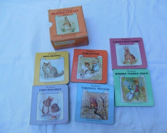 Little Treasury of Beatrix Potter, Peter Rabbit, Boxed Set of 6, 1985