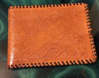 Vintage Wallet. Mexican Hand Tooled Wallet. REDUCED