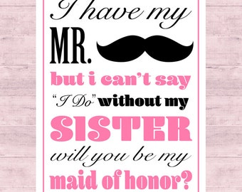 Will you be my Maid of Honor? Wine Label Sister Gift Maid of Honor Gift