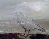 "Secret Watchman, original painting 5"" x 7"""