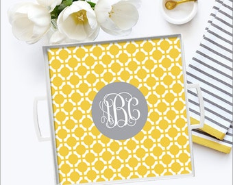 Personalized Tray, Personalized Platter, Monogram Tray, Monogram Platter -  12x12 - Wedding Gift, Hostess Gift, Bridal Shower Gift