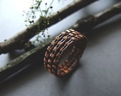 Woodland Men's Ring, Copper Rustic Ring for Him, Gift for Men, Mens Jewelry, Woodland Copper Mens Ring