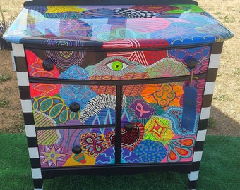 Funky Painted Furniture: Cabinet of Chaos