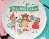 Personalised Musical Baby Birth Plate