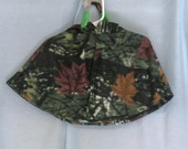 Jungle Camoflage Camo Poncho Fleece Fabric Warm Hooded Baby Capelet Sizes 12 Month Green