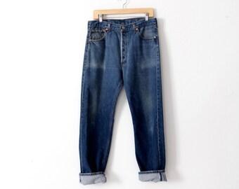 vintage Levi's 501xx denim jeans, waist 33