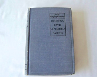 Antique Charles Dickens David Copperfield Lake English Classics 1910 Hardcover Book