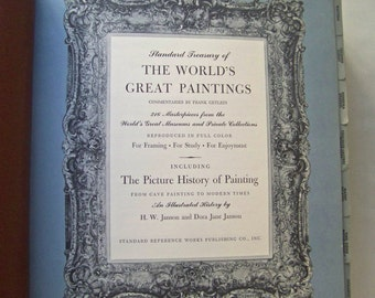Vintage Art History Worlds Great Paintings Masterpieces Framing Study Enjoyment Homeschool History of Painting 1960